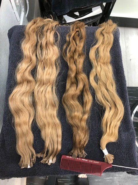 Different Shades of Pizzazz Beauty Salon Blonde Hair Extensions